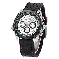 CURREN 男性 スポーツウォッチ 軍用腕時計 耐水 クォーツ 日本産クォーツ ラバー バンド ラグジュアリー ブラック