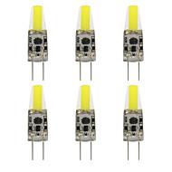 6 kpl NO G4 3W 1 COB 260 lm Lämmin valkoinen / Kylmä valkoinen T Vedenkestävä LED Bi-Pin lamput AC 220-240 / DC 12 V