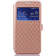 Για Samsung Galaxy Θήκη Θήκη καρτών / με βάση στήριξης / με παράθυρο / Ανοιγόμενη tok Πλήρης κάλυψη tok Γεωμετρικά σχήματα Συνθετικό δέρμα