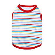 고양이 / 개 티셔츠 레드 / 오렌지 / 그린 / 블루 / 블랙 / 화이트 강아지 의류 여름 Randig 패션