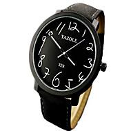 Hombre Mujer Unisex Reloj de Moda Cuarzo Piel Banda Negro Marrón Marrón Negro/Blanco Negro Marrón/Blanco