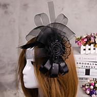 blomst fjer slør fascinator hat hår smykker til bryllupsfest