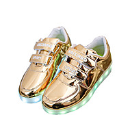 Boys' Shoes Outdoor / Casual / Athletic Leatherette Summer Round Toe / Sandals Magic Tape / LED Silver / Gold