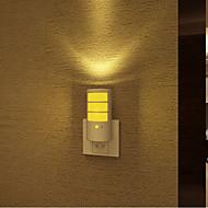 творческий теплый белый перезаряжаемые датчик света звуковой индукции в связи с ночного сна ребенка света (ассорти цветов)