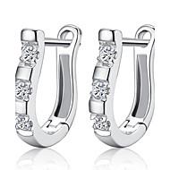 Ring oorbellen Birthstones Geboortestenen Sterling zilver Zilver Sieraden Voor Bruiloft Feest Dagelijks Causaal 1 paar