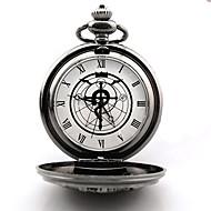 Klokke/Ur Inspireret af Helmetal Alkemist Edward Elric Anime Cosplay Tilbehør Klokke/Ur Sølv Legering Mand