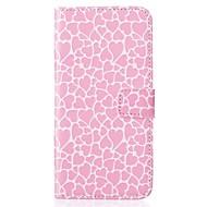 Для Кейс для  Samsung Galaxy Кошелек / Бумажник для карт / со стендом / Флип / Рельефный Кейс для Чехол Кейс для С сердцемИскусственная