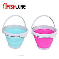 Afishlure 10L Folding Bucket Fishing Tube Outdoor Buckets Barrel of Fish Waterproof Multifunction Plastic Purple/Blue