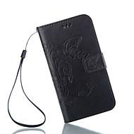 Varten Samsung Galaxy kotelo Korttikotelo / Tuella / Flip / Magneetti / Koristeltu Etui Kokonaan peittävä Etui Perhonen Tekonahka Samsung