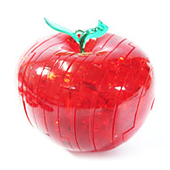 Jigsaw Puzzles 3D Puzzles Crystal Puzzles Building Blocks DIY Toys Apple ABS Red Model & Building Toy