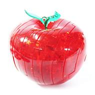 παζλ Παζλ 3D Κρυστάλλινα παζλ Δομικά στοιχεία DIY παιχνίδια Apple ABS Ασημί Μοντελισμός & Κατασκευές