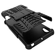 pc + siliconen schild staan robuuste band case voor Sony Xperia x anti shock geval van de dekking shell (verschillende kleuren)