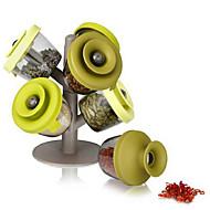 6 stuks boom stijl kruiden blikjes verzegeld opslagtank finelife pop-up kruidenrek