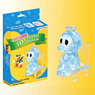 Jigsaw Puzzles 3D Puzzles / Crystal Puzzles Building Blocks DIY Toys Duck ABS Blue Model & Building Toy