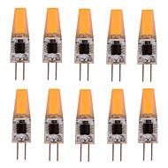 10 stk. YWXLIGHT G4 4W 1 COB 300-360 lm Varm hvid / Kold hvid T Justérbar lysstyrke / Dekorativ LED-lamper med G-sokkelAC 220-240 / AC
