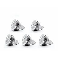 5W GU5.3(MR16) Lâmpadas de Foco de LED MR16 4 350-400 lm Branco Quente DC 12 V 5 pçs