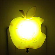 Creative Warm White Apple Light Sensor Relating to Baby Sleep Night Light(Random Color)