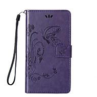 Πλήρης Σώμα πορτοφόλι / Βάση Καρτών / με Stand / Ανάγλυφο Πεταλούδα Συνθετικό δέρμα Σκληρό Case Cover για το HuaweiHuawei P9 / Huawei P9
