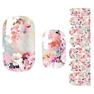 Fashion Women Pink Flower 3D Nail Art Stickers Decal Diy Manicure 1Pc