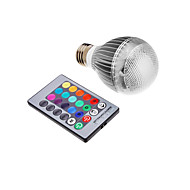 9W E26/E27 LED-globepærer Integrert LED 500 lm RGB Fjernstyrt AC 85-265 V