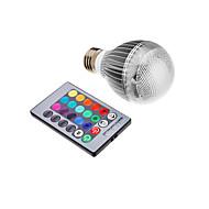 9W E26/E27 LED-globepærer Integreret LED 500 lm RGB Fjernstyret Vekselstrøm 85-265 V