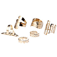 Ring Heart Daily Casual Jewelry Alloy Women Statement Rings 1set,One Size Gold