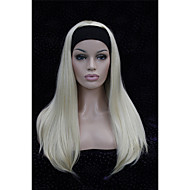 Half wig 3/4 wigs With Headband Long Straight Blonde Synthetic Hair Wig many colors for you choose