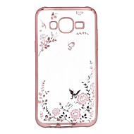 For Samsung Galaxy etui Belægning Transparent Etui Bagcover Etui Blomst TPU for Samsung J7 J5 J3