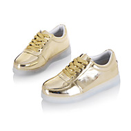 Boys' LED Shoes Outdoor / Athletic / Casual Leatherette Fashion Sneakers Black / White / Silver / Gold