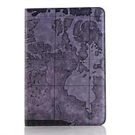 ρετρό στυλ χάρτη εκτυπώσεις pu δέρμα αναστροφή υπόθεση tablet σκληρό εξώφυλλο για το ipad mini 3/2/1 έξυπνη στάση προστατευτική θήκη