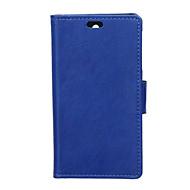 Voor Nokia hoesje Portemonnee / Kaarthouder / met standaard hoesje Volledige behuizing hoesje Effen kleur Hard PU-leer NokiaNokia Lumia