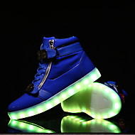 Running Shoes LED Shoes USB Charging Luminous Shoes Men's Casual Shoes Fashion Sneakers Black / Blue / Red / White