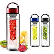 Fruit Infusing watter bottle Lemon Juice Maker 700ml cap Fruit Infuser bike travel school (Random color)