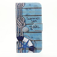 Life Buoy Pattern PU Leather Full Body Case with Stand and Card Slot for iPhone 6s Plus 6 Plus 6s 6 SE 5s 5