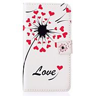 Para Samsung Galaxy Capinhas Porta-Cartão / Carteira / Com Suporte / Flip / Com Relevo Capinha Corpo Inteiro Capinha Flor Couro PU Samsung