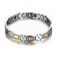 Men's Jewelry Health Care Silver Stainless Steel Magnetic Therapy Bracelet Fashion Gift