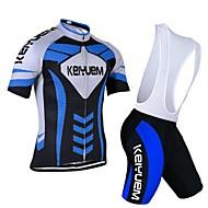 KEIYUEM® Maglia con salopette corta da ciclismo Per donna / Per uomo / Unisex Maniche corte BiciclettaTraspirante / Asciugatura rapida /