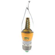 7W E26/E27 Luces LED en Vela S14 25 SMD 2835 600 lumens lm Blanco Natural Decorativa AC 85-265 / AC 100-240 V 1 pieza