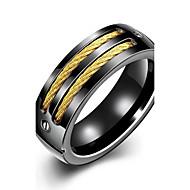 指輪 タッセル / ファッション / ボヘミアスタイル / パンクスタイル / 調整可能 / 愛らしいです 結婚式 / パーティー / 日常 / カジュアル / スポーツ ジュエリー バンドリング / ステートメントリング 1個,7 / 8 / 9 / 10 ブラック