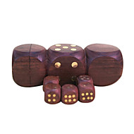 Royal St Selling Hua Limu Dice Points Completely Wood Material Inlaid Copper Nail Atmosphere 1 Set Of Dice 1.7 Cm