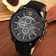 Men's Large Black Case Leather Band Analog Cool Watch Jewelry Gift Wrist Watch Cool Watch Unique Watch