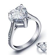 指輪 ハート 恋 ファッション 誕生石です. 結婚式 パーティー カジュアル ジュエリー 純銀製 女性 バンドリング 1個,6 7 8 シルバー