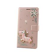 Voor Samsung Galaxy hoesje Kaarthouder / Strass / Flip hoesje Volledige behuizing hoesje Glitterglans Hard Metaal SamsungGrand Max /