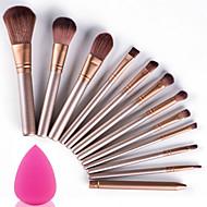 12st make-up borstels set met puff spons professioneel zachte cosmetische kit make-up artist