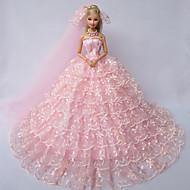 Wedding Dresses For Barbie Doll Pink Dresses