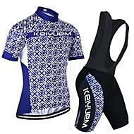 KEIYUEM Cyclisme Ensemble de Vêtements/Tenus Unisexe VéloRespirable / Séchage rapide / Résistant à la poussière / Vestimentaire /