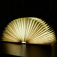 USB Rechargeable Creative Wooden Foldable Foldable Pages Led Book Shape Portable Booklight