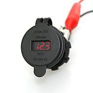 iztoss 2.1A& 電圧計の赤い光で2.1A防水デュアルUSB充電器携帯電話の充電器の電源ソケット