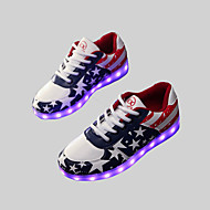 Women's / Men's Spring / Summer / Fall Round Toe Leatherette Outdoor / Casual / Athletic Flat Heel Lace-up Blue