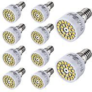 3W E14 Spot LED T 24 SMD 2835 300 lm Blanc Chaud / Blanc Froid Décorative AC 100-240 V 10 pièces